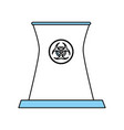 isolated nuclear plant design vector image vector image