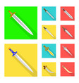 isolated object of and sword sign set of and vector image