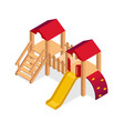 isometric playground building element vector image vector image