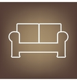 Line icon on the brown background vector image vector image
