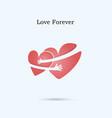 love forever logo design templatewedding vector image vector image