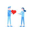 man and woman are in love vector image vector image