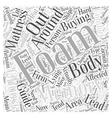 Memory Foam Mattress Buying Guide Word Cloud vector image vector image