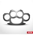 Metal Brassknuckles vector image vector image
