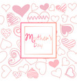 mothers day template card greeting card vector image