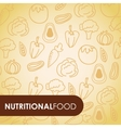 nutritional food vector image