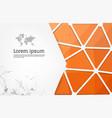 orange geometrical background polygonal vector image