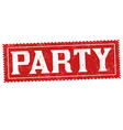 party grunge rubber stamp vector image vector image