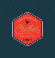 premium fresh chicken meat label vector image vector image