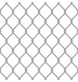 realistic metal chain link fence vector image vector image