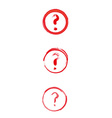 red danger sign with question mark vector image vector image