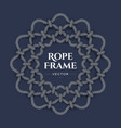 round rope frame vector image vector image