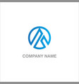 round triangle company logo vector image vector image