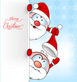 santa clus cartoon on background vector image vector image