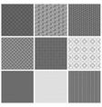 Seamless gray patterns vector image