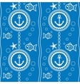 seamless pattern with a maritime theme vector image vector image