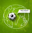 Soccer ball on map world design vector image vector image
