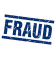 square grunge blue fraud stamp vector image vector image