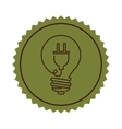 stamp light bulb flat icon with plug shape vector image vector image