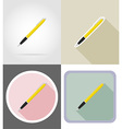 stationery flat icons 10 vector image vector image