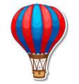 sticker template with hot balloon air in cartoon