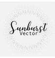 sunburst style isolated on white background vector image vector image