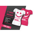 t-shirt mock up for lady layered and ready to use vector image vector image