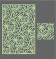 The template pattern for decorative panel1 vector image vector image