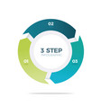 three step circle infographic vector image vector image