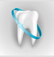 tooth on a white background protection human vector image vector image