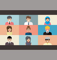 video conference screen flat style vector image