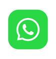 whatsapp logo phone icon vector image vector image