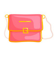 woman messenger bag vector image vector image