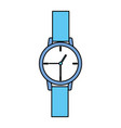 wristwatch time icon vector image