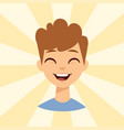 young man smiling person caucasian attractive vector image vector image