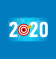 2020 target new resolution symbolize with dart vector image vector image