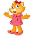 a cartoon cat character vector image