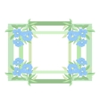 Abstract flowers and frame vector image vector image