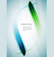 abstract waves background template vector image vector image