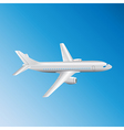 Airplane top view vector image