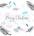 artistic hand drawn unusual christmas design vector image vector image