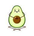 avocado yoga character design vector image vector image