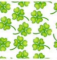 background of green clover vector image vector image