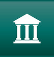 bank building icon in flat style museum on green vector image
