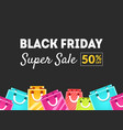 black friday super sale 50 percent off banner vector image