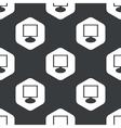 Black hexagon monitor pattern