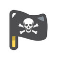 black pirate flag icon cartoon vector image