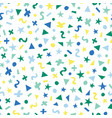 blue green yellow abstract shapes seamless vector image vector image