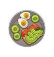 breakfast flat vector image