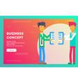 business concept businessmen break contract vector image